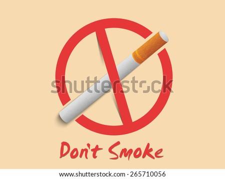 Anti Smoking Sign Symbol Text Dont Stock Vector Royalty Free