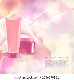 anti-aging skin care product with pink harmony