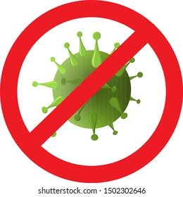Antibacterial, no bacteria and antiviral icon doodle. Bacteria and germs virus, micro-organisms disease-causing. Defense icon. Stop bacteria and viruses prohibition sign. Antiseptic icon color