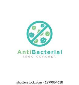 Antibacterial sign logo design