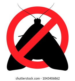 Anti-moth, pest control, insects, parasites (vector, white background)