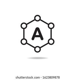 Antioxidant icon design isolated on white background. Vector illustration