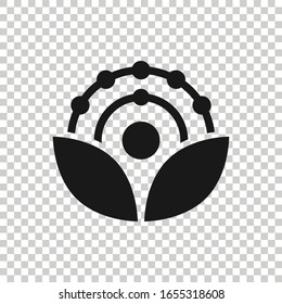 Antioxidant icon in flat style. Molecule vector illustration on white isolated background. Detox business concept.