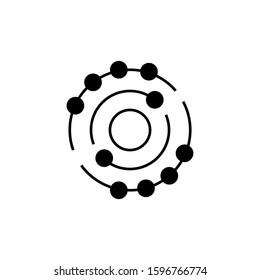 Antioxidant vector icon, radical free oxidant molecule. Simple Icon