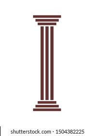 Antique Column line icon, pillar outline vector logo, linear pictogram isolated on white, pixel perfect illustration