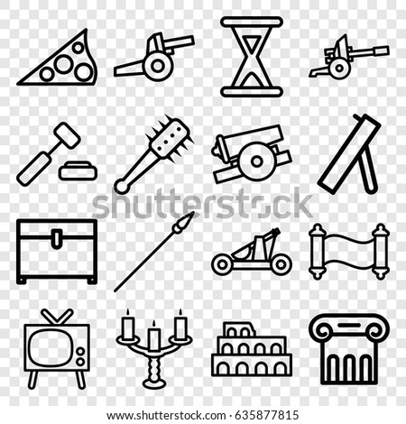 Antique Icons Set Set 16 Antique Stock Vector Royalty Free