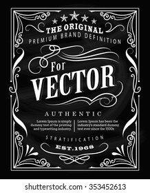 Antique label typography poster vintage frame blackboard design vector