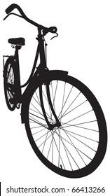 Antique Ladies Bike in Vector format