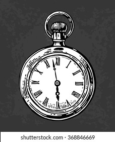 Pocket Watch Drawing Images Stock Photos Vectors Shutterstock Most relevant best selling latest uploads. https www shutterstock com image vector antique pocket watch engraving vintage vector 368846669