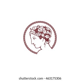 antique profile, goddess, greece