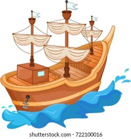 cartoon boat images stock photos vectors shutterstock rh shutterstock com cartoon boat race pictures cartoon pirate boat pictures