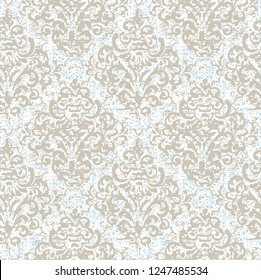 antique texture background,  modern damask patten seamless in vector