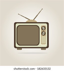 antique tv design over gray background, vector illustration