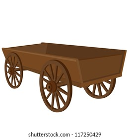 Antique vehicle. The illustration on a white background.