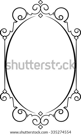 Antique Vintage Oval Frame Blank Space Stock Vector (Royalty Free ...