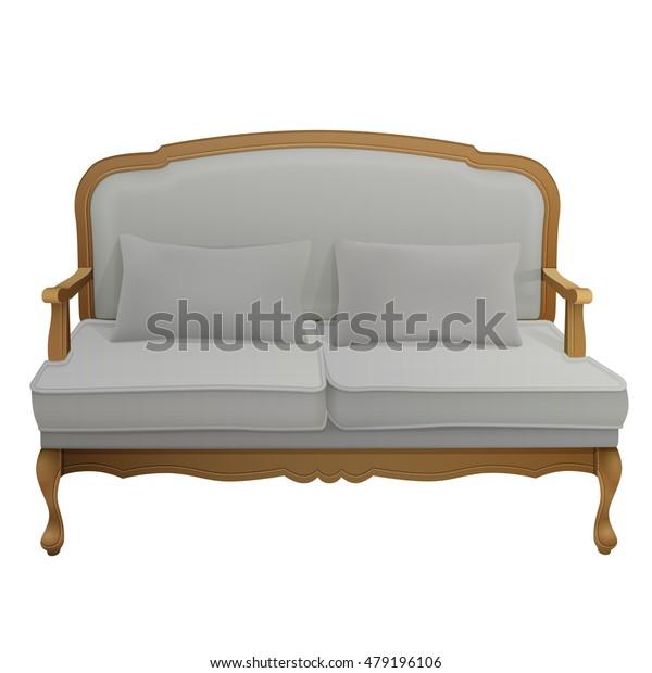 Awe Inspiring Antique Vintage Wooden Grey Velvet Upholstered Stock Vector Machost Co Dining Chair Design Ideas Machostcouk