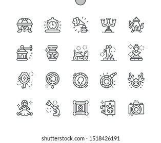 Antiques Well-crafted Pixel Perfect Vector Thin Line Icons 30 2x Grid for Web Graphics and Apps. Simple Minimal Pictogram