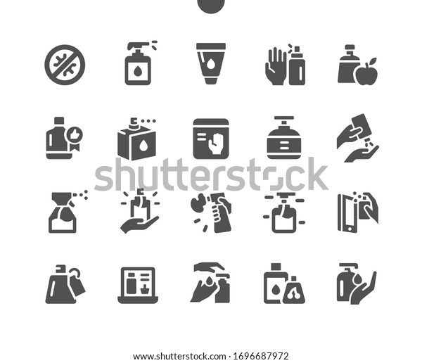 Antiseptic Well-crafted Pixel Perfect Vector Solid Icons 30 2x Grid for Web Graphics and Apps. Simple Minimal Pictogram