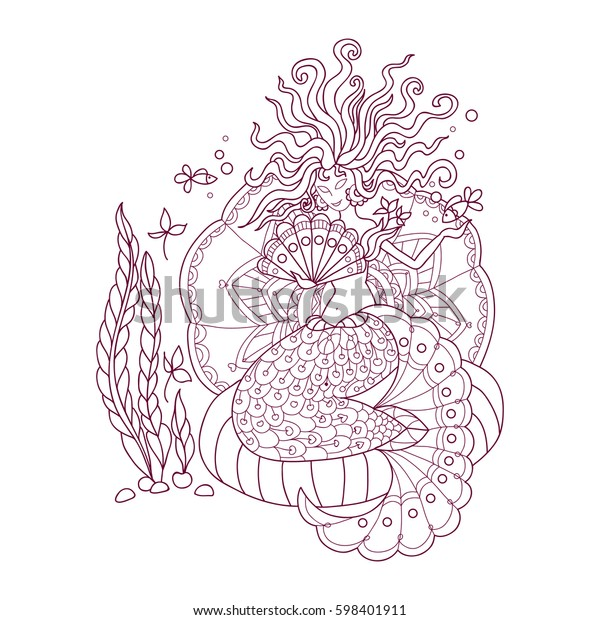 - Antistress Coloring Pages Adult Doodle Elements Stock Vector (Royalty Free)  598401911