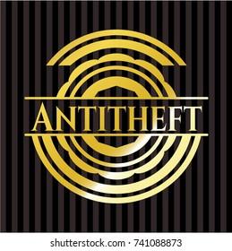Antitheft gold emblem or badge