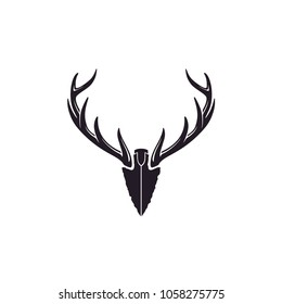 Antler and Arrowhead for Hunting logo design inspiration