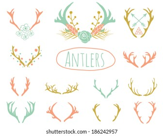 Antler Clipart Design in Vector