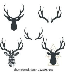 Antler, horns vector illustration EPS10
