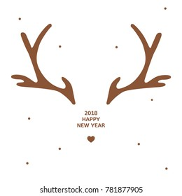 antler new year card template