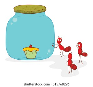 ants and cake