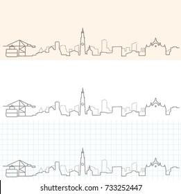 Antwerp Hand Drawn Skyline