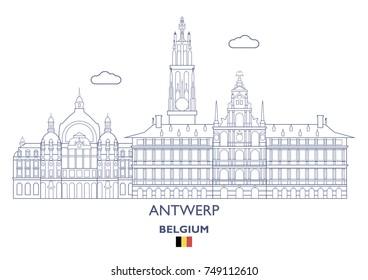 Antwerp Linear City Skyline, Belgium
