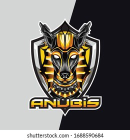 anubis esport logo and mascot game for your team