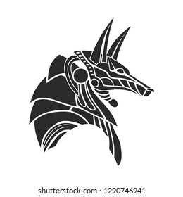 anubis head vector with modern style,ancient god headed dog in egypt