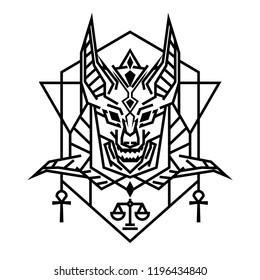 Vectores, imágenes y arte vectorial de stock sobre Anubis Jackal God