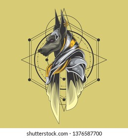 anubis illustration for commercial use