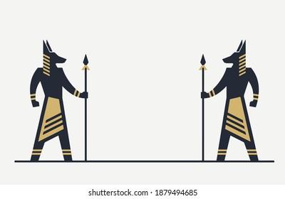 Anubis illustration Egyptian art vector logo