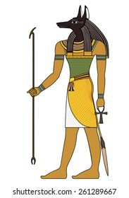 Anubis , Isolated figure of ancient egypt god