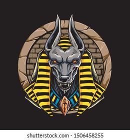 anubis lord egypt mythology character design