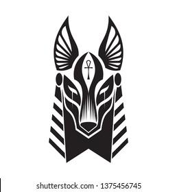 anubis tribal tattoo