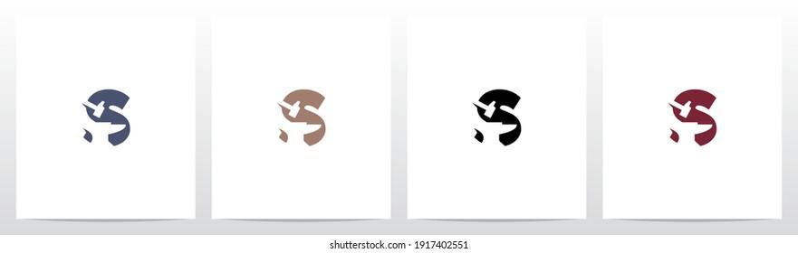 Anvil And Hammer On Letter Logo Design S