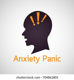 Anxiety Panic vector icon illustration
