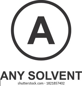 ANY SOLVENT ICON, SIGN AND SYMBOL