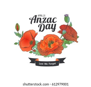 Anzac Day. April 25. Lest we forget