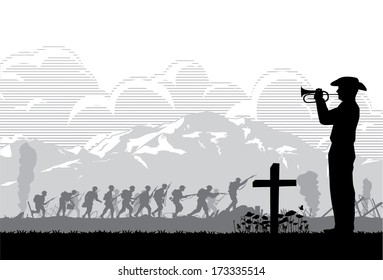 Anzac day background, vector
