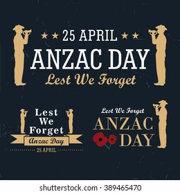 Anzac Day labels