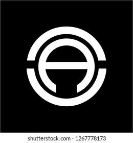 AO, OA, AUN, NAU initials geometric company logo