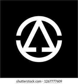 AO, OA, CCA, AOCC initials geometric company logo