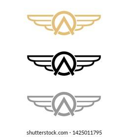 AO wing or OA wing logo design