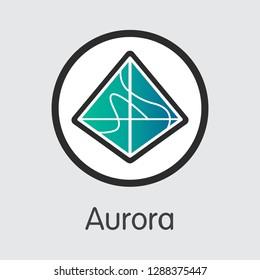 AOA - Aurora. The Trade Logo or Emblem of Money, Market Emblem, ICOs Coins and Tokens Icon.