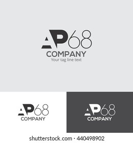 AP 68 Typographical Logo Design